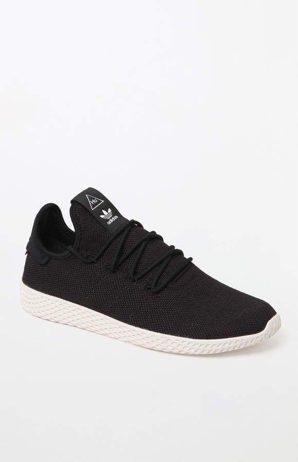9552f83d19e1b adidas x Pharrell Williams Black Tennis Hu Shoes