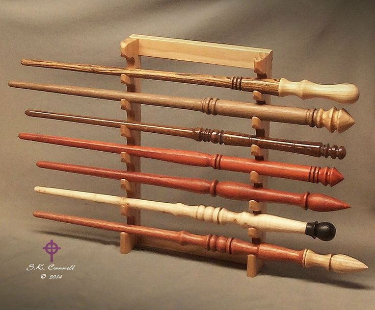 Wood Wand Wall Display Stand for 7 Wands Pacific NW ...