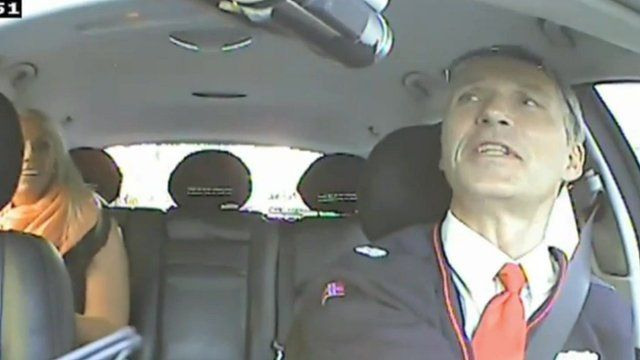 Norway PM Jens Stoltenberg works as secret taxi driver to find out what voters think - COOL!