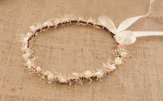 Bridal Wreath  HochzeitsKopfband  BlumenKranz  von LenaWeddings, $35.00
