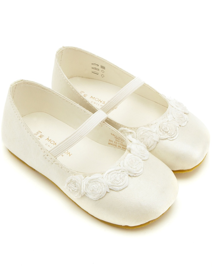 Little Girl White Wedding Shoes
