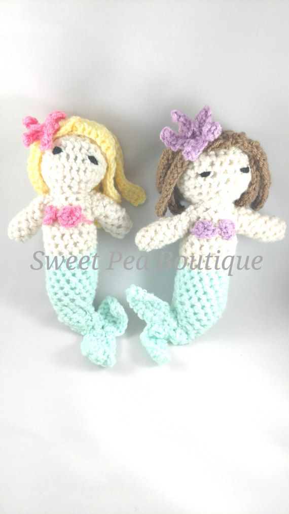 Crochet dolls mermaid toy handmade toy by SweetPeaBoutique15
