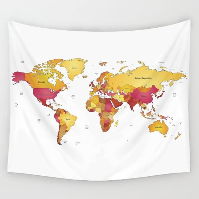 World map canvas tapestry boho wall decoration decor 10 styles world map canvas tapestry boho wall decoration decor 10 styles gypsycult pinterest wall decorations tapestry and products sciox Images