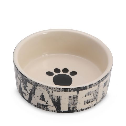 Apportez une touche vintage à l'espace repas de votre chien, avec ce superbe bol en céramique fait à la main. Polyvalent, il peut aussi être utilisé pour la nourriture humide ou la nourriture sèche. Il va au micro-ondes et au lave-vaisselle.