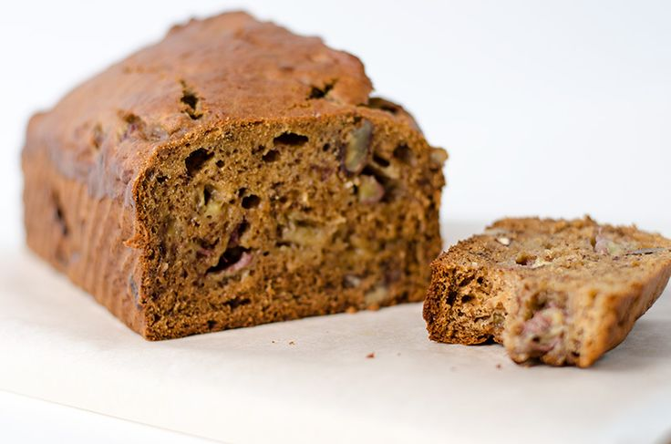 Low sugar banana bread only contains 1/3 of the sugar of a normal banana bread. It's moist, fluffy and full of fragrant of banana and pecan.