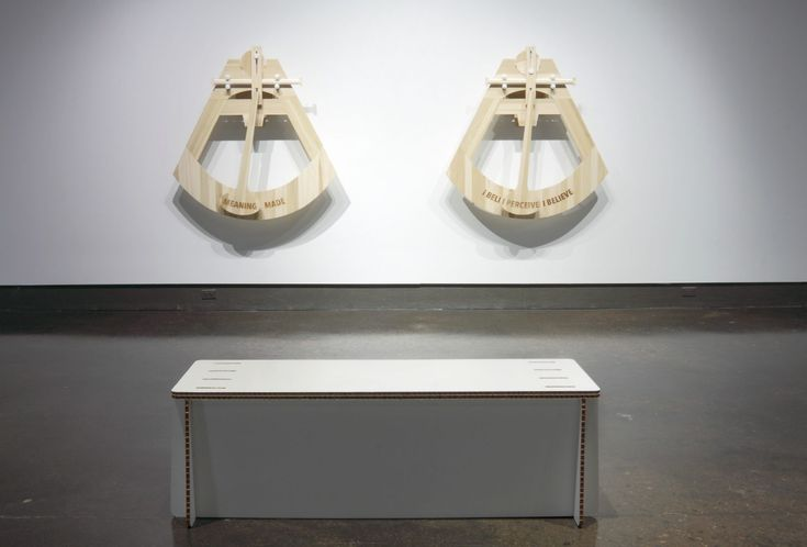 """""""Reflective Sculptures: A Critique of Binary Beliefs"""" is a pair of kinetic sculptures by the Ontario-based artists St Marie φ Walker. Produced as part of their MFA show, the motorized devices sit halfway between poems and machines."""