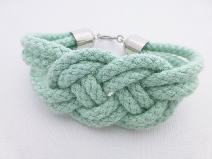 Mint Sailor Knot Rope Bracelet available at Whimsy & Grace NZ