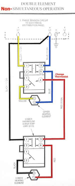 convert 3-phase water heater to single phase: http ... hydrojet hot water heater wiring diagram off peak water heater wiring