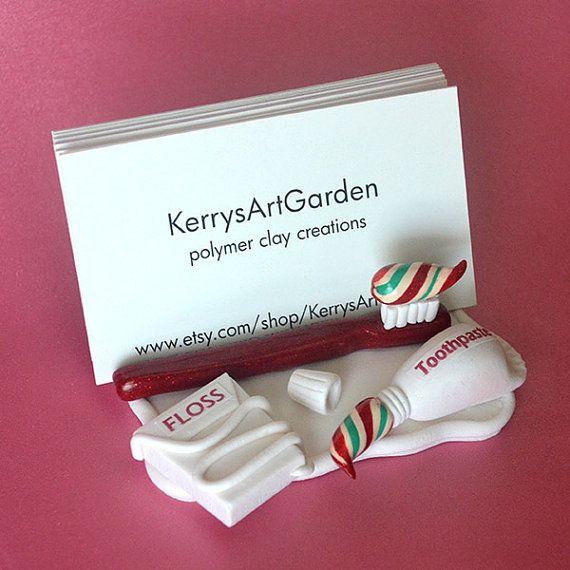 67 best dental gifts art images on pinterest dental art teeth dentist red polymer clay business card holder on etsy 2800 colourmoves