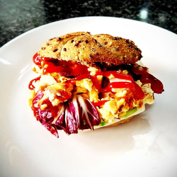 Try foodtastic team's omelette burger. Delicious breakfast idea