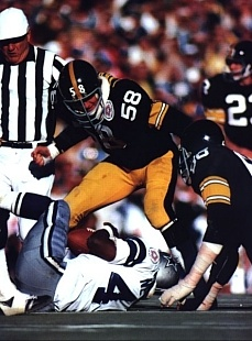 Jack Lambert in Super Bowl X.