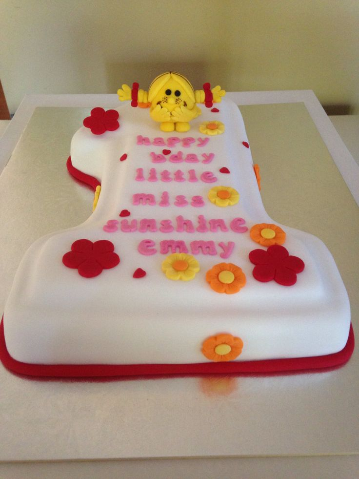 Little Miss number 1 cake