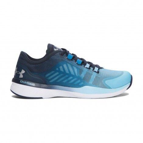 Under Armour Charged Push 1285796 fitness schoenen dames chicago blue De Wit Schijndel @underarmour #underarmour #sportschoenen #fitness #fitnessschoenen