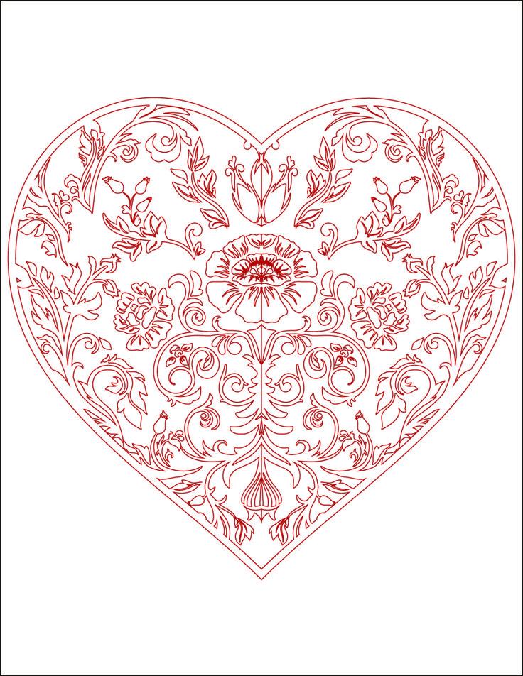 Extrêmement Plus de 25 idées uniques dans la catégorie Coloriage coeur sur  SK47