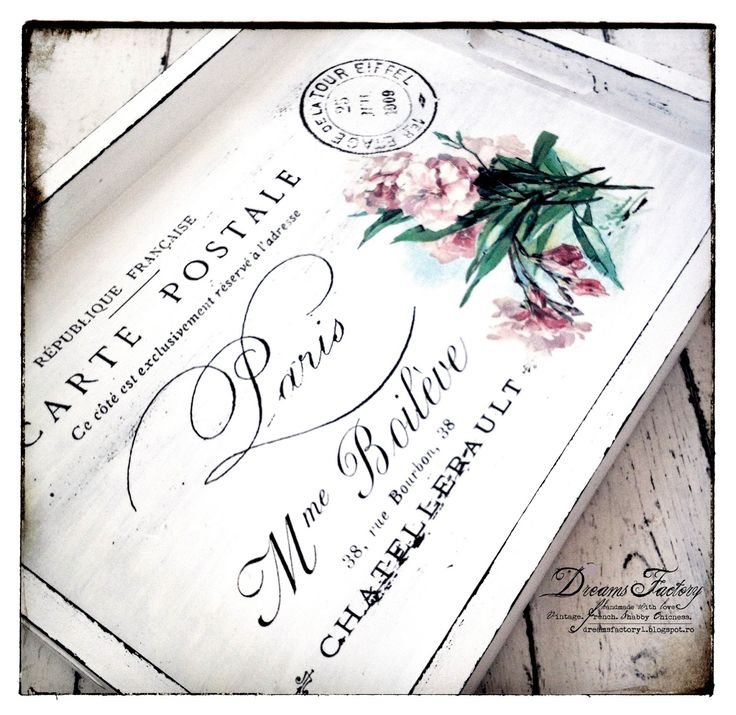 Dreams Factory: Spring Flowers Postcard from Paris French Tray ♦ Tavita frantuzeasca Spring Flowers Postcard from Paris