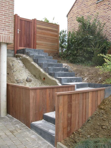 21 best images about escalier jardin on pinterest belle for Amenagement entree exterieur