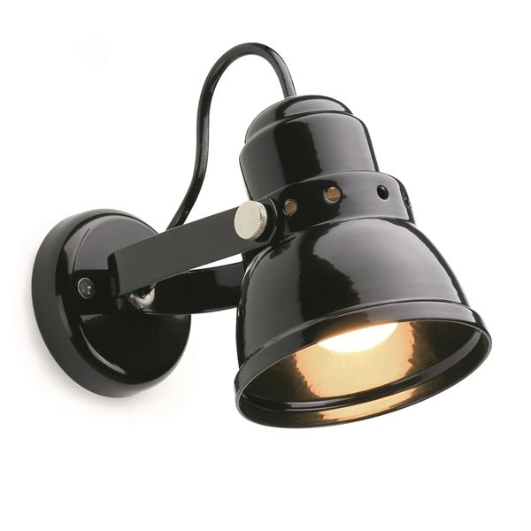 Wandlamp klein zwart