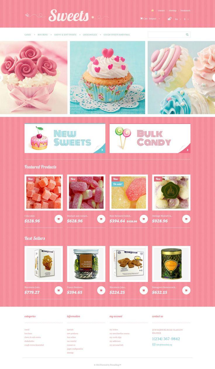 Sweets Store PrestaShop Theme #47888