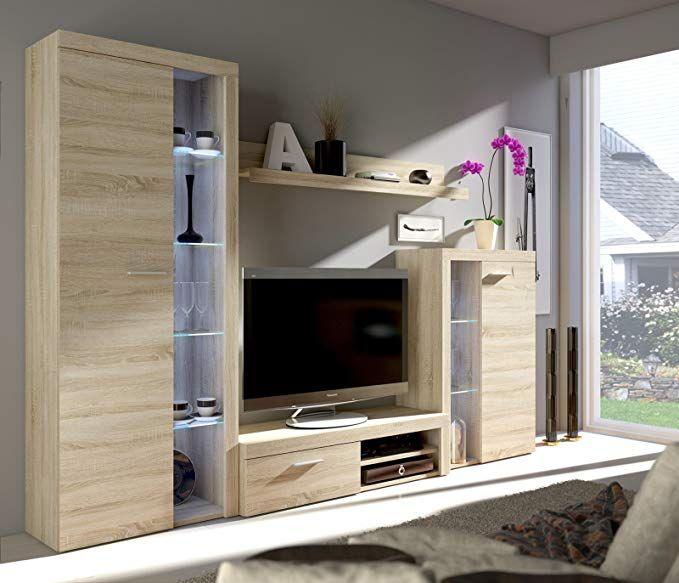 HomeDirectLTD Wohnwand Dance Anbauwand Schrank Möbel Wohnzimmer