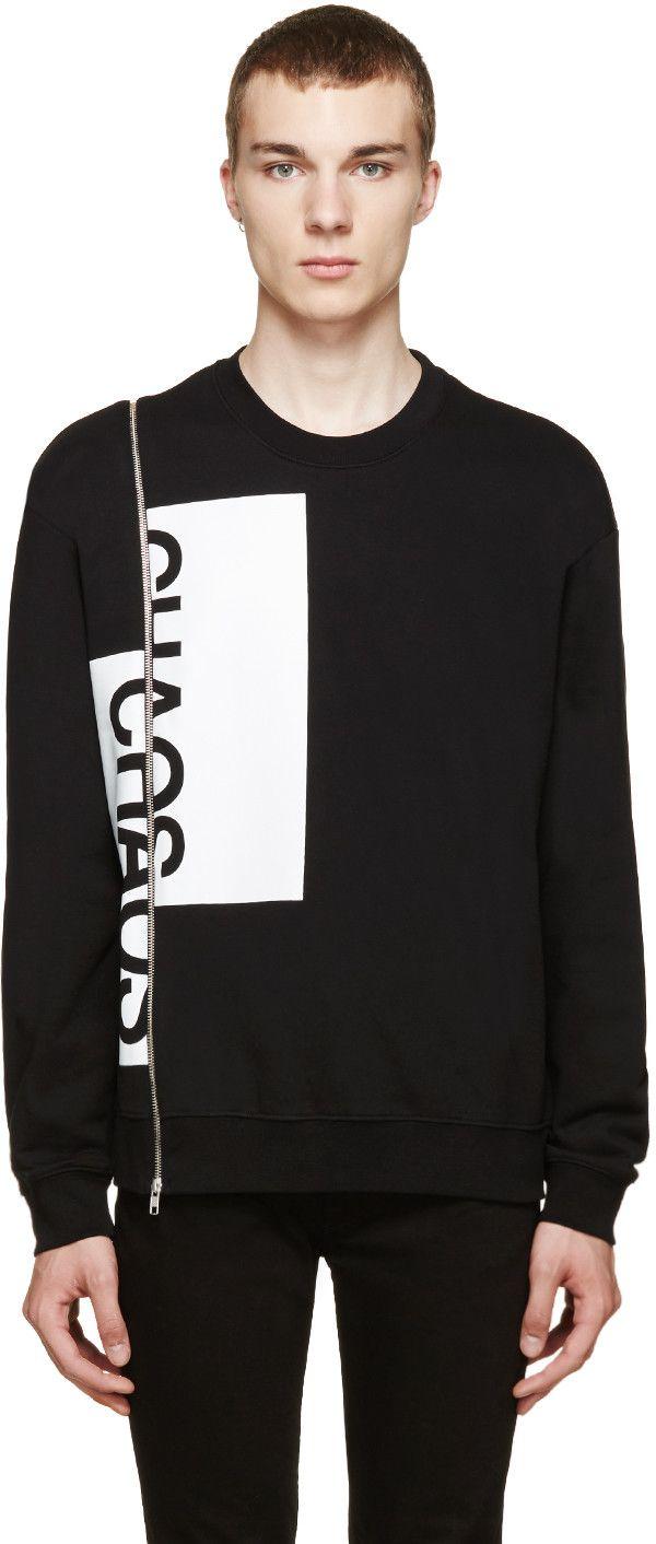 McQ Alexander McQueen Black Chaos Zip Sweater