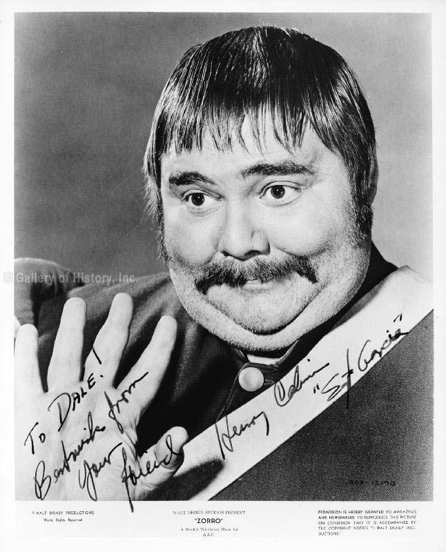 "ZORRO: HENRY CALVIN as ""Sergeant Garcia"""