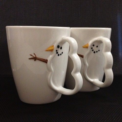 I bought one of these in 2003 - so cute - Starbucks made the snowman in the handle - one of my favorite Christmas mugs.