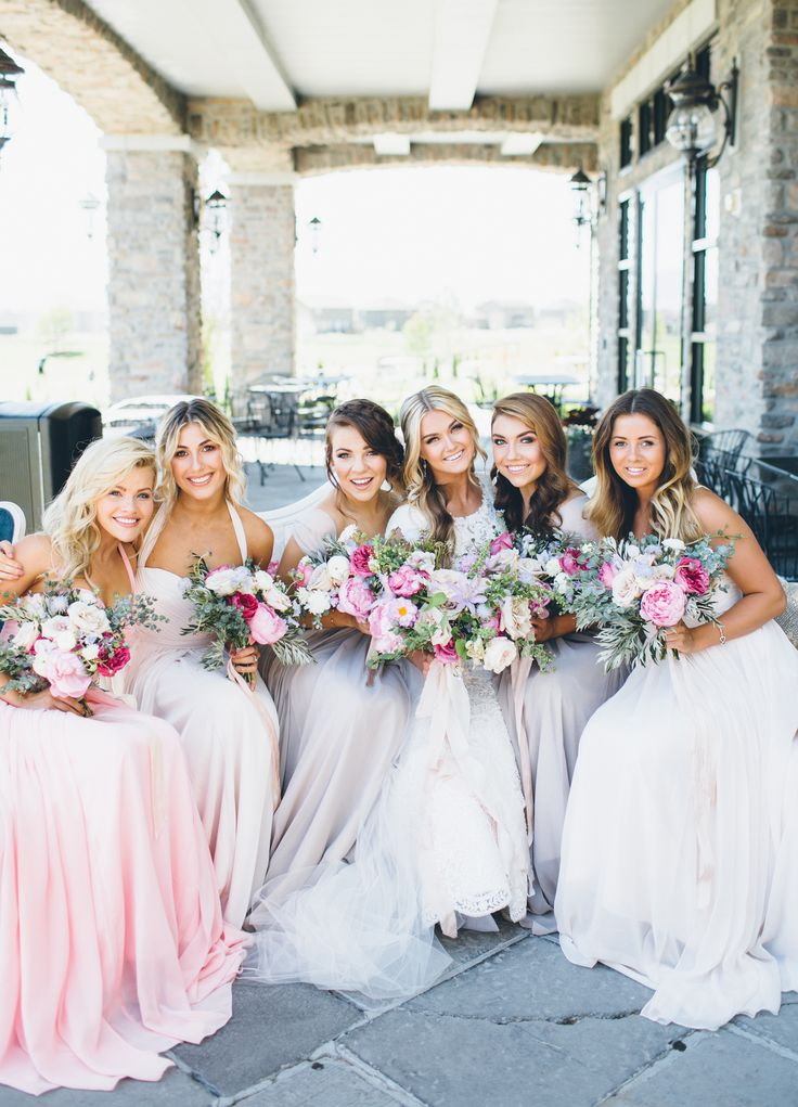 Lindsay Arnold Wedding | Dancing With the Stars | Bridal Party | Blush Bridesmaid Dresses | Blush Floral | Famous Dancers | SYTYCD | Sleepy Ridge Wedding | Utah Valley | Jessica Janae Photography