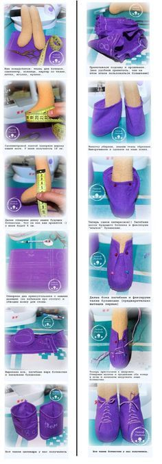 fab photo tutorial for cute doll shoes :) . . .