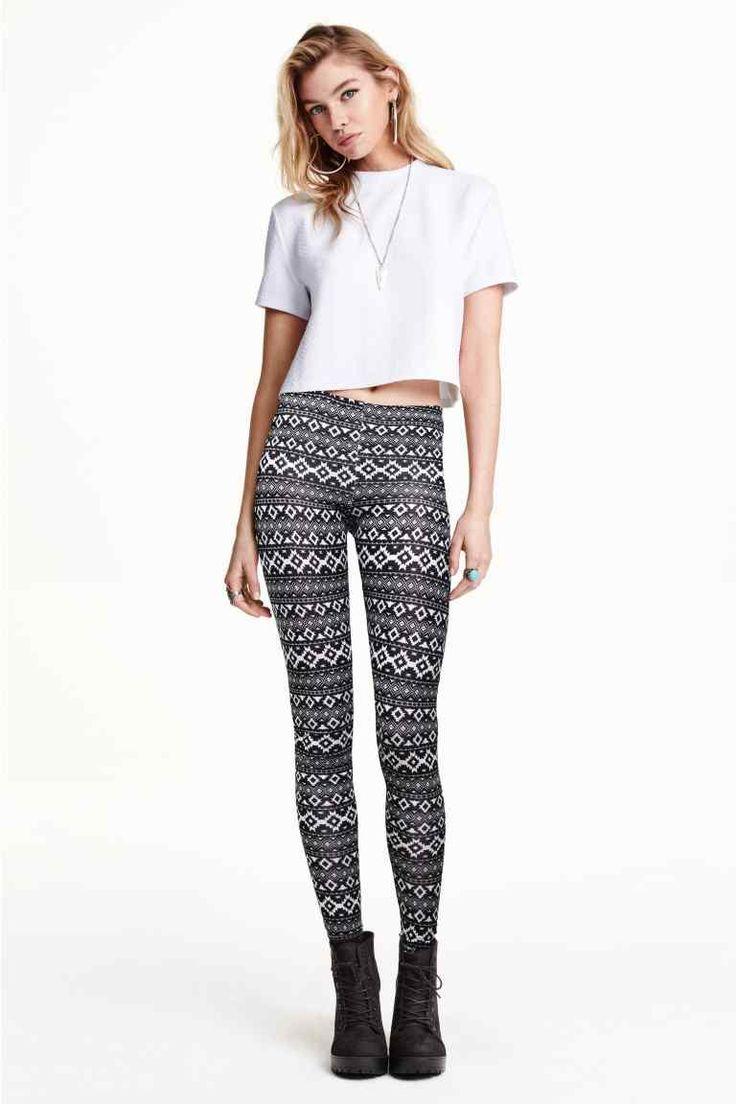 Wzorzyste legginsy | H&M
