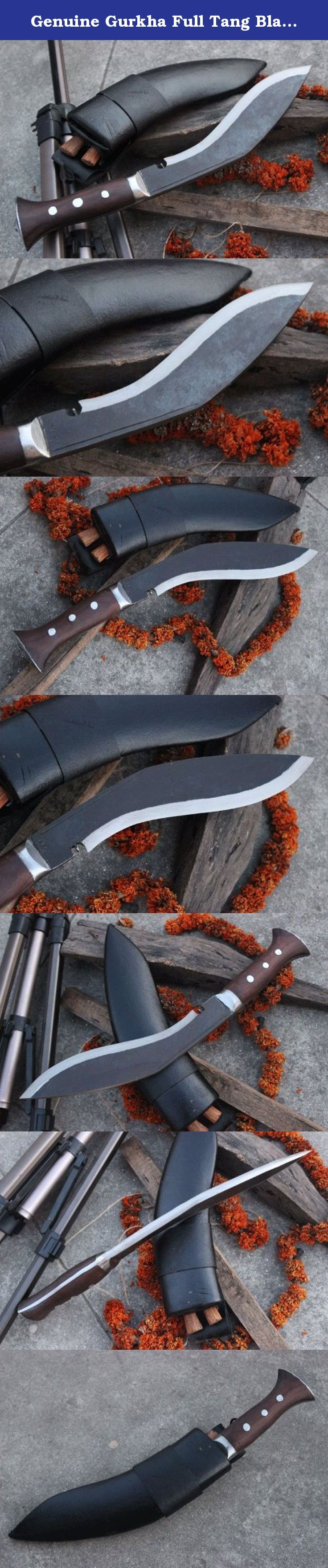 """Genuine Gurkha Full Tang Blade Rust Free Kukri Knife - 10"""" Blade Panawal Angkhola Village Farmer Kukri - Handmade By Ex Gurkha Khukuri House in Nepal. 10"""" Rust Free Blade Panawal Angkhola Farmer Khukuri Full Tang Handle Kukri. Ang + khola are two different words that take two different meaning. Angkhola is a popular village from eastern side of Nepal. The handle of the khukuri from this village is always single piece that goes all the way through bottom of the blade. Ang means the back…"""