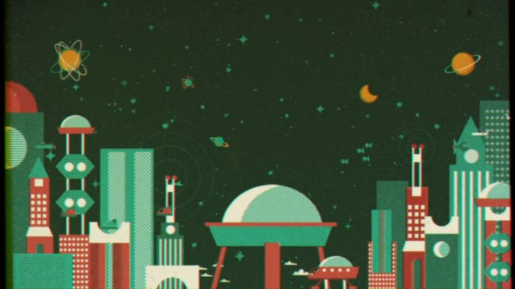 Gorgeous retro sci-fi illustrations by Dawid Ryski - talkseek.com Animated by stage2.pl
