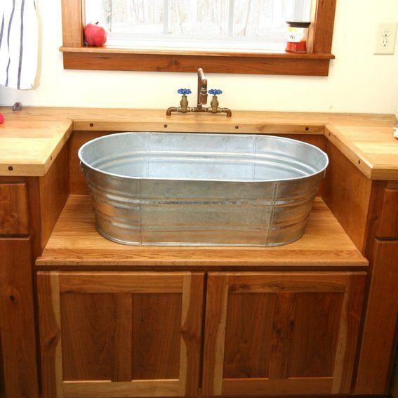 rustic+utility+sinks | Custom Made Rustic Laundry Sink And Cabinet