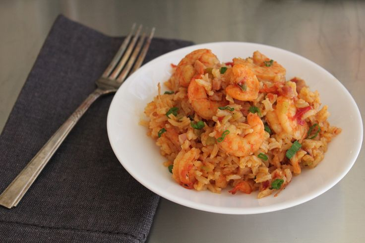 Shrimp and Ham Jambalaya - Emeril  ---  Jambalaya is one of  Louisiana's most beloved dishes. It can be made with shrimp, chicken, sausage, ham, pork and in any combination.