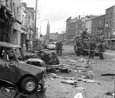 Dublin Bombings 1974 That Friday we were 5th years rehearsing our show in the school hall for the sixth years leaving party when we heard the explosions. Our school was the Mercy College in Beaumont, a good 5 miles away from the devastation. Of course we had no idea at the time what the noise was. Jean