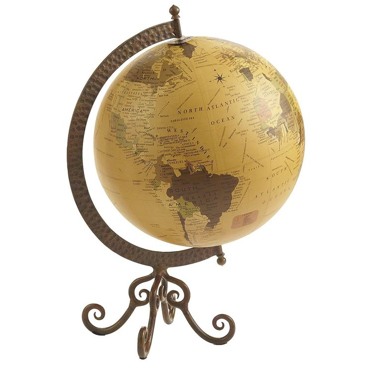 Pier 1 Globe With Iron Stand Brings You The World. Office PlayroomHome ...