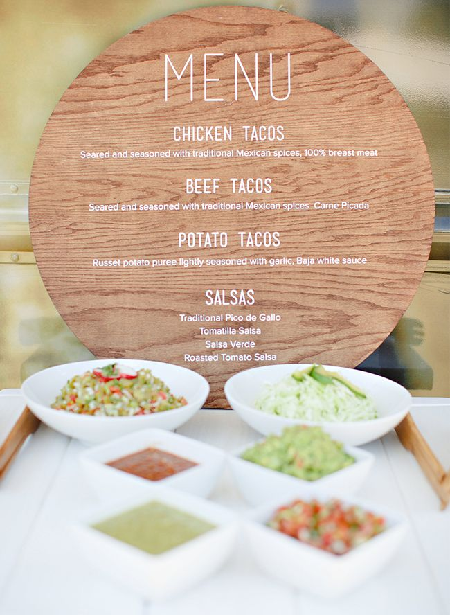 25 best ideas about taco bar menu on pinterest mexican for Housewarming party food menu