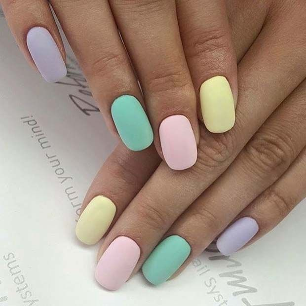 Instagram Photo By Mary Jul 28 2016 At 2 23pm Utc Easter Nails Spring Nails Rainbow Nails