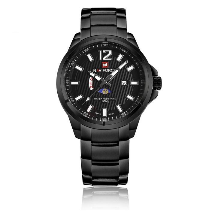 Naviforce 9084 Date Day Display Stainless Steel Watch for Men