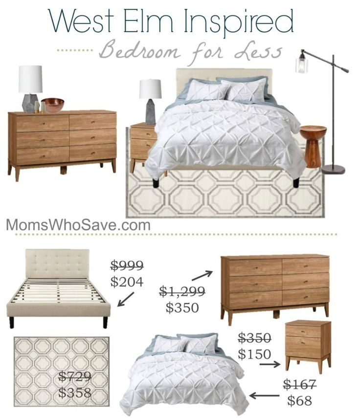 West Elm Inspired Bedroom for Less | MomsWhoSave #decor #home #WestElm
