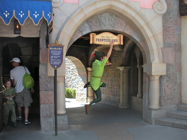 Spieling Peter Pan on his last day at Disneyland by sillyrach, via Flickr