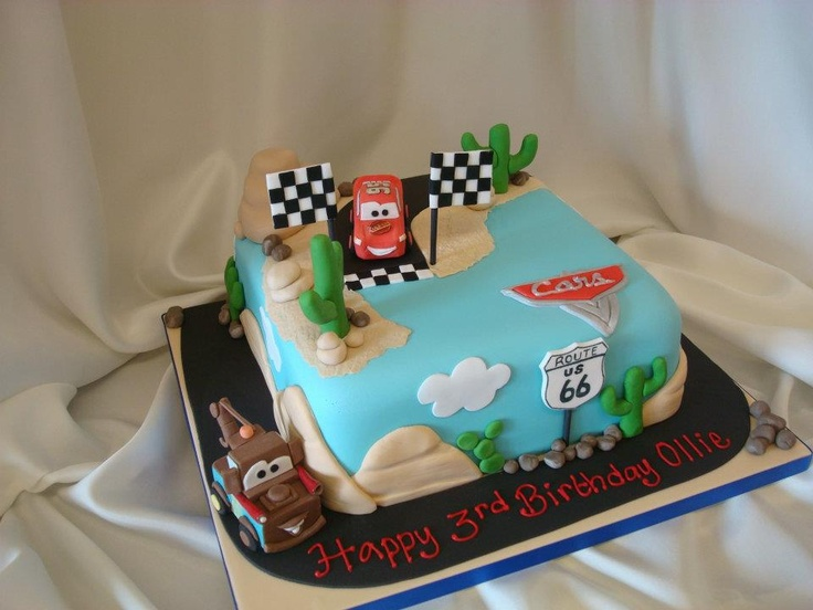 Cars Theme Cake Wicked Awesome Detail Very Realistic