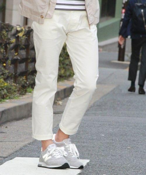 JOURNAL STANDARD MEN'S(ジャーナルスタンダードメンズ)のウェポンテーパードストレッチ 5ポケットパンツ # (パンツ)|ホワイト