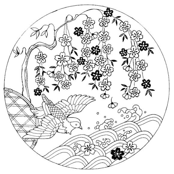 Cherry Blossom Coloring Page Japanese Cherry Blossom Coloring