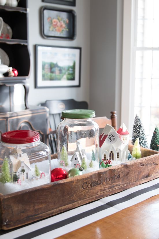 Quick simple minute decorating a snow globe village