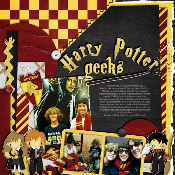 Harry Potter geeks | AK Designs: We Are Memory Keepers Our Tags: Templates Ponytails Designs: When Skies Are Gray