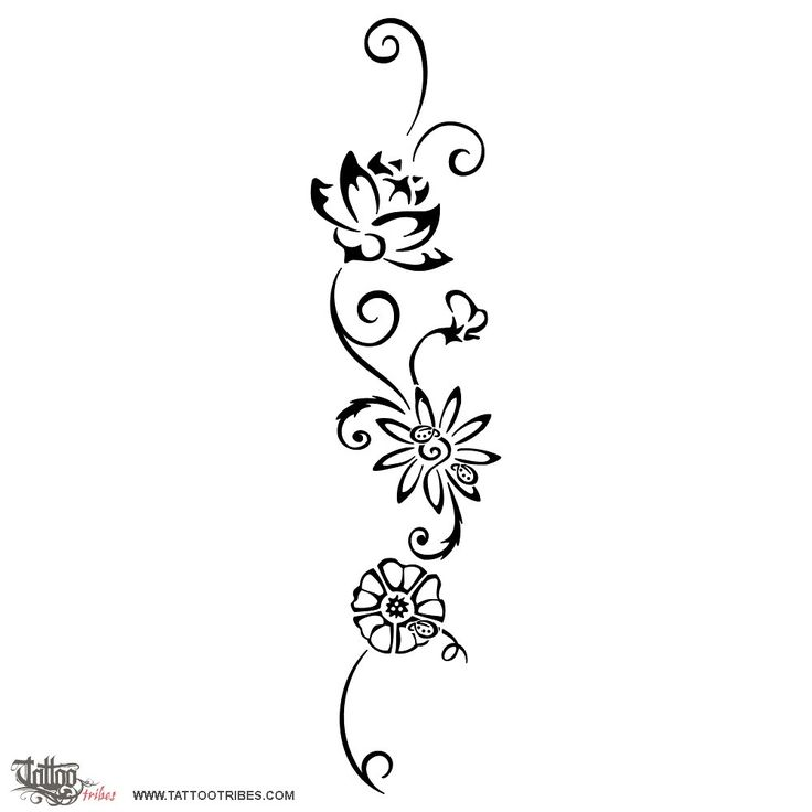 TATTOO TRIBES - Shape your dreams, Tattoos and their meaning - flowers, ladybugs, children, grandchildren, morning glory, daisy, violet, bud...
