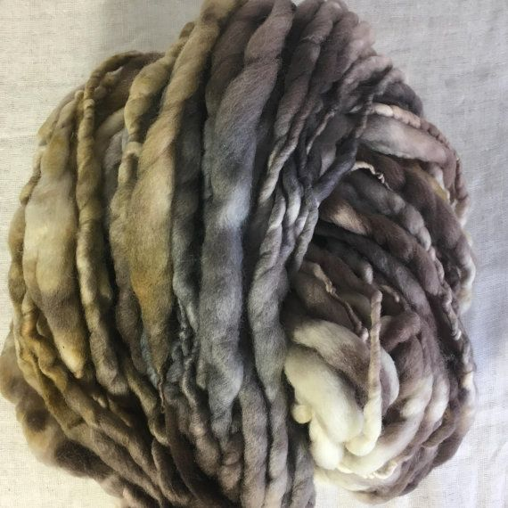 Black Brown Caramel Merino  Hand spun Hand dyed Yarn