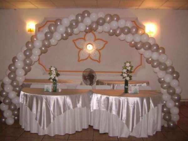 Resultado de imagen para decoracion de bodas de plata con globos