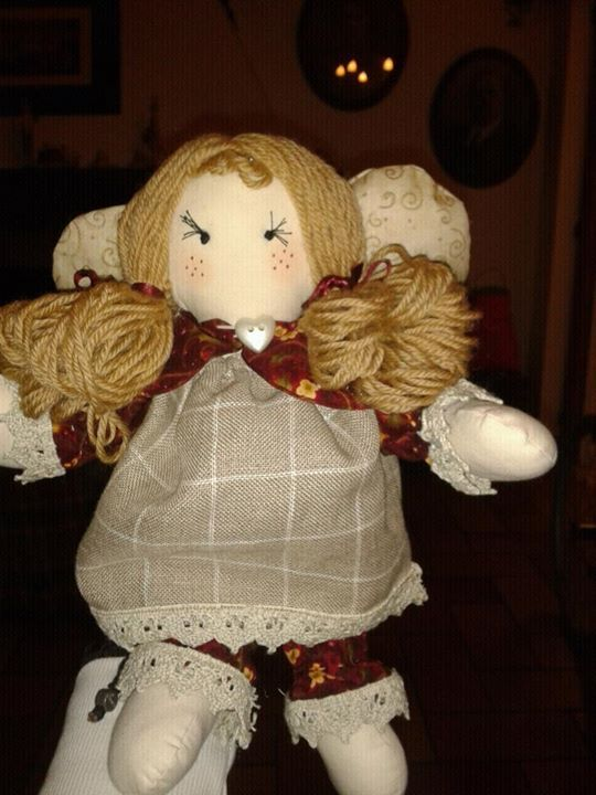 angelo di pezza#bambola di pezza #rag doll#creative sewing