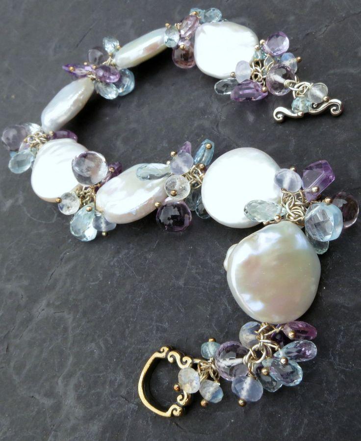 Pulsera de perlas barrocas,vuelven las perlas!!